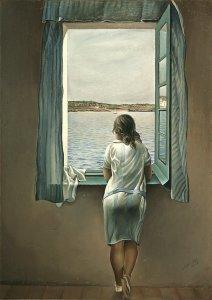 """""""Muchacha en la ventana"""", de Salvador Dalí"""