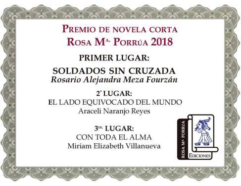 premio 2018 rosa ma porrúa