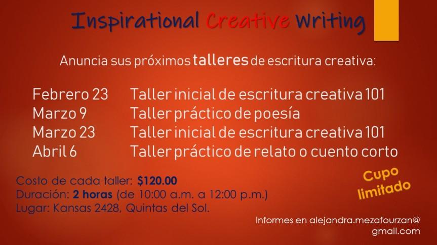 flyer talleres febrero a abril