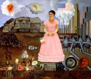 Autorretrato en la frontera entre México y Estados Unidos. Frida Khalo (1932)